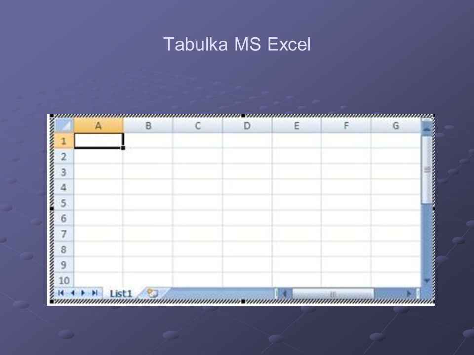 Tabulka MS Excel