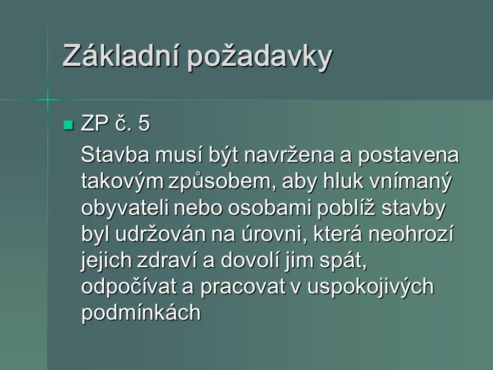 Základní požadavky ZP č. 5