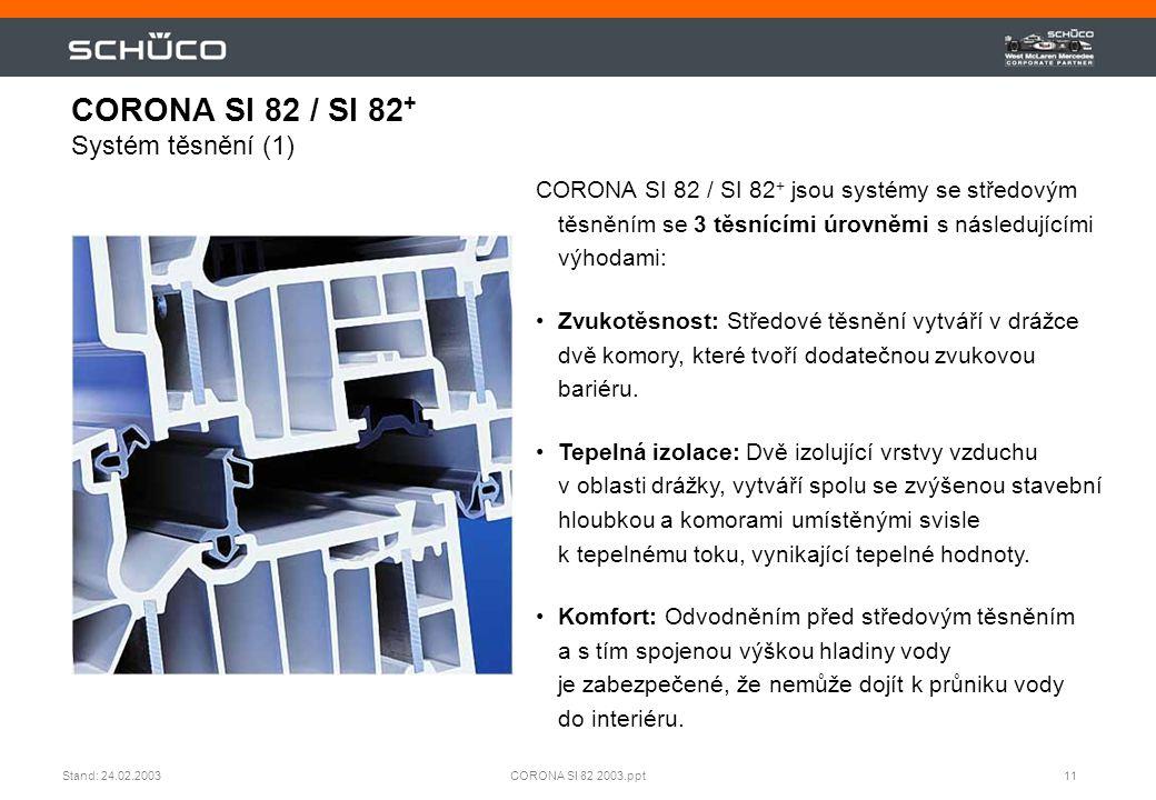 CORONA SI 82 / SI 82+ Systém těsnění (1)