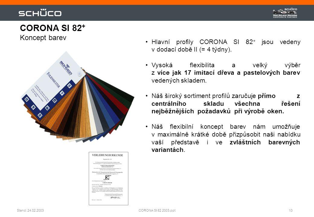 CORONA SI 82+ Koncept barev