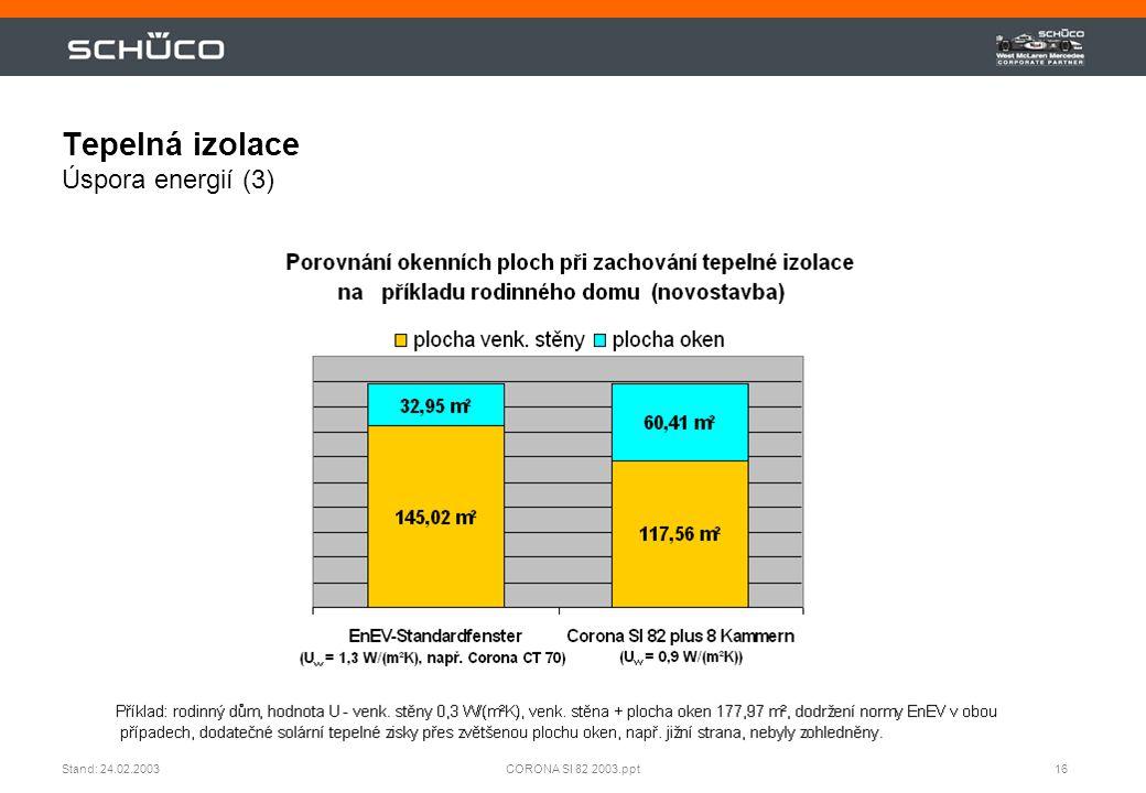 Tepelná izolace Úspora energií (3)