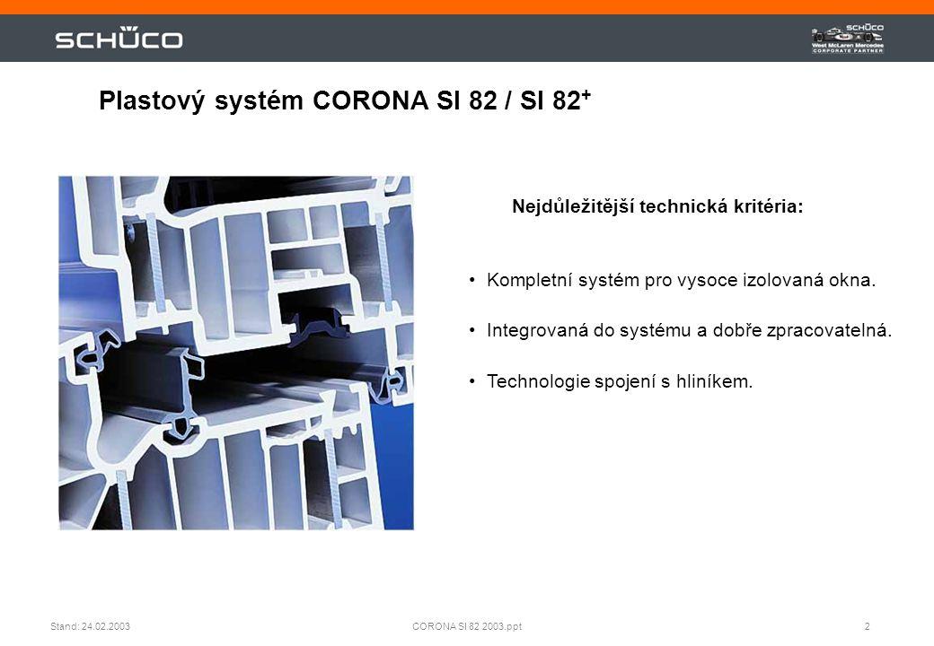 Plastový systém CORONA SI 82 / SI 82+