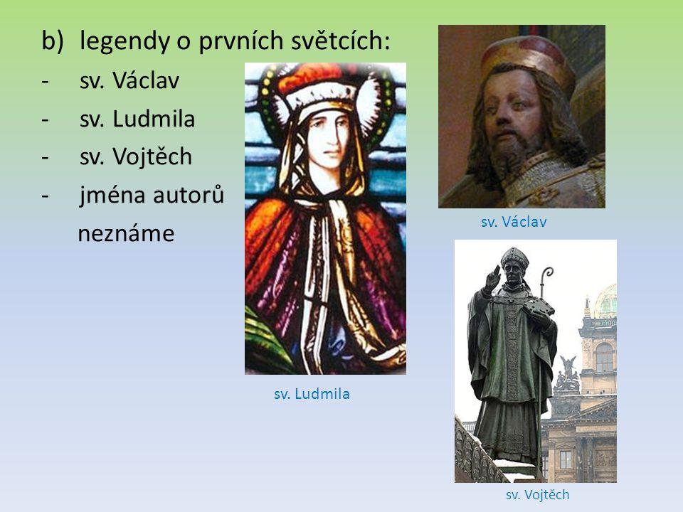 legendy o prvních světcích: