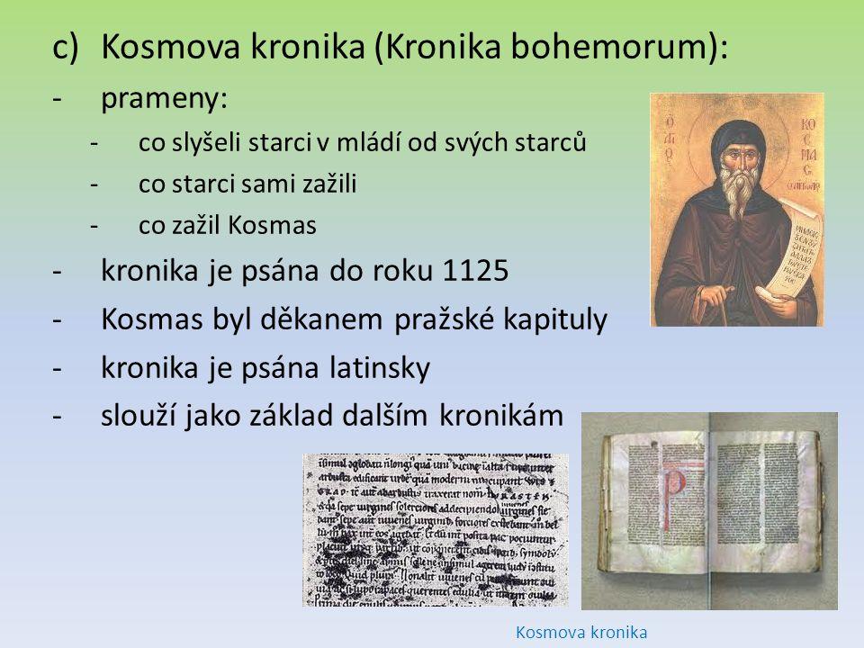 Kosmova kronika (Kronika bohemorum):