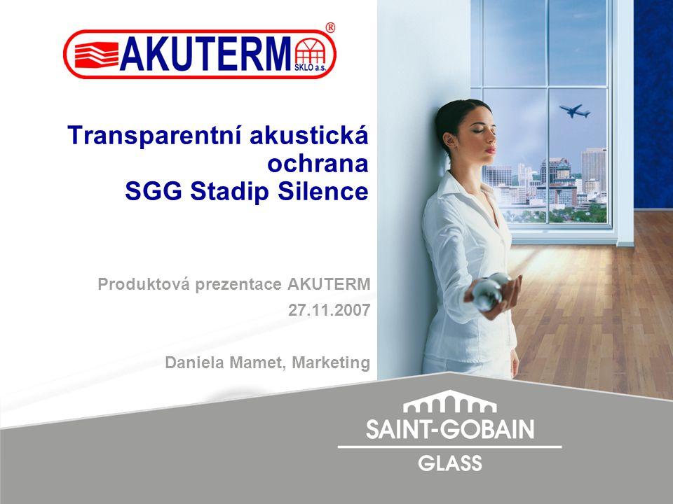 Transparentní akustická ochrana SGG Stadip Silence