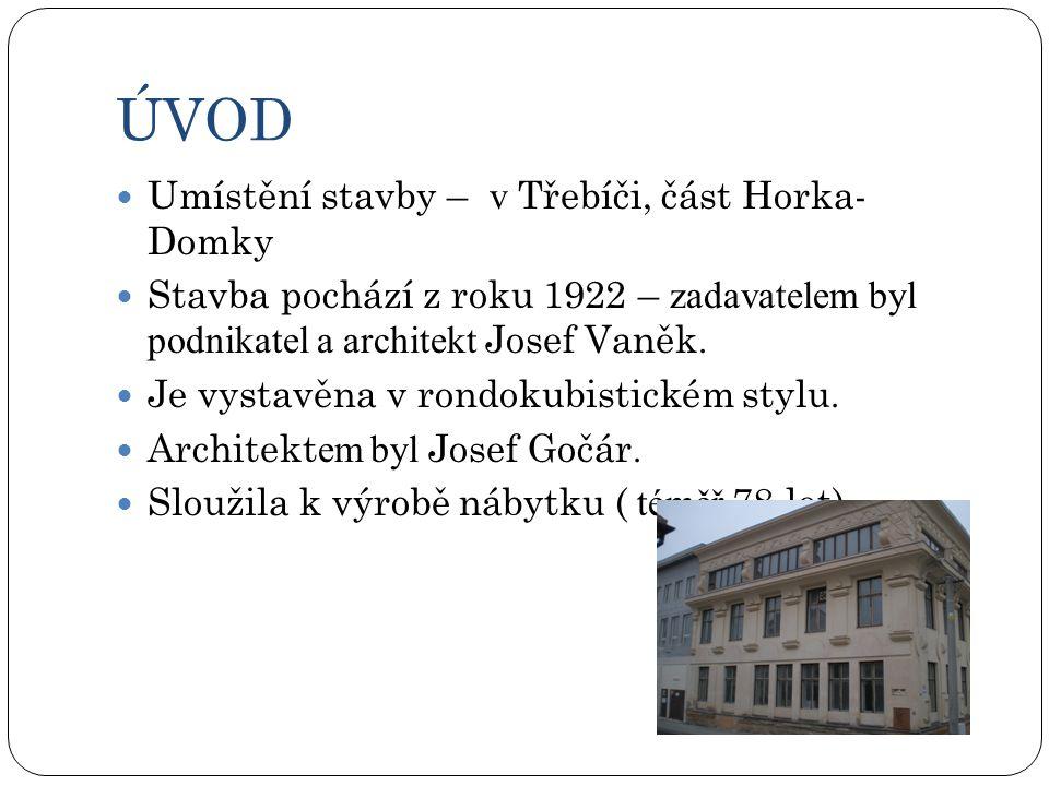 ÚVOD Umístění stavby – v Třebíči, část Horka- Domky