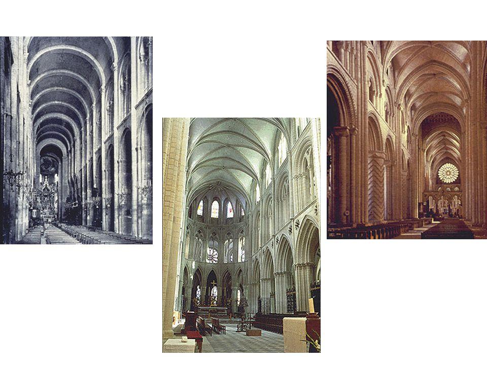 Durham: hlavní loď St Etienne: hlavní loď St Sernin: klenby (Pozor, jde to odprava)