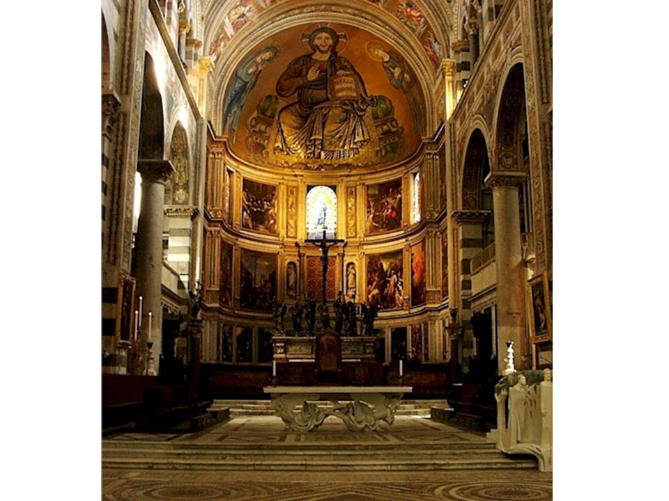 Jednotlivé části baziliky: