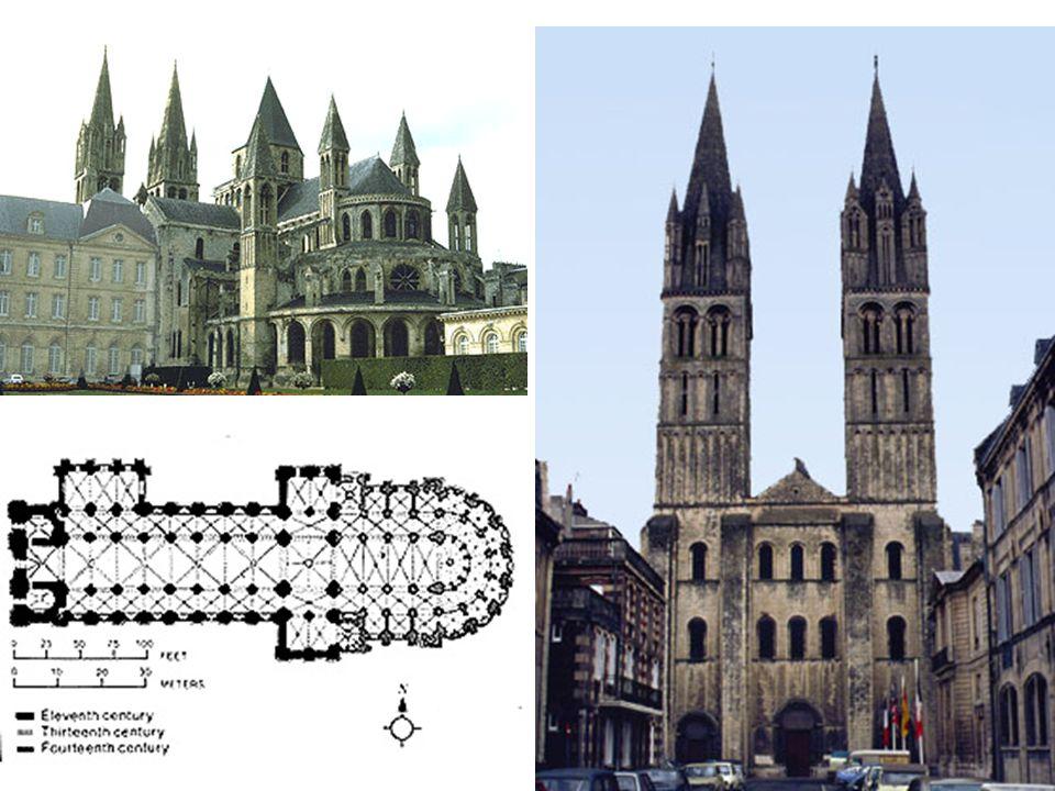 St Etienne: pohled od východu; apsida s věncem kaplí