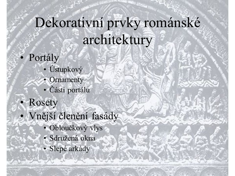 Dekorativní prvky románské architektury
