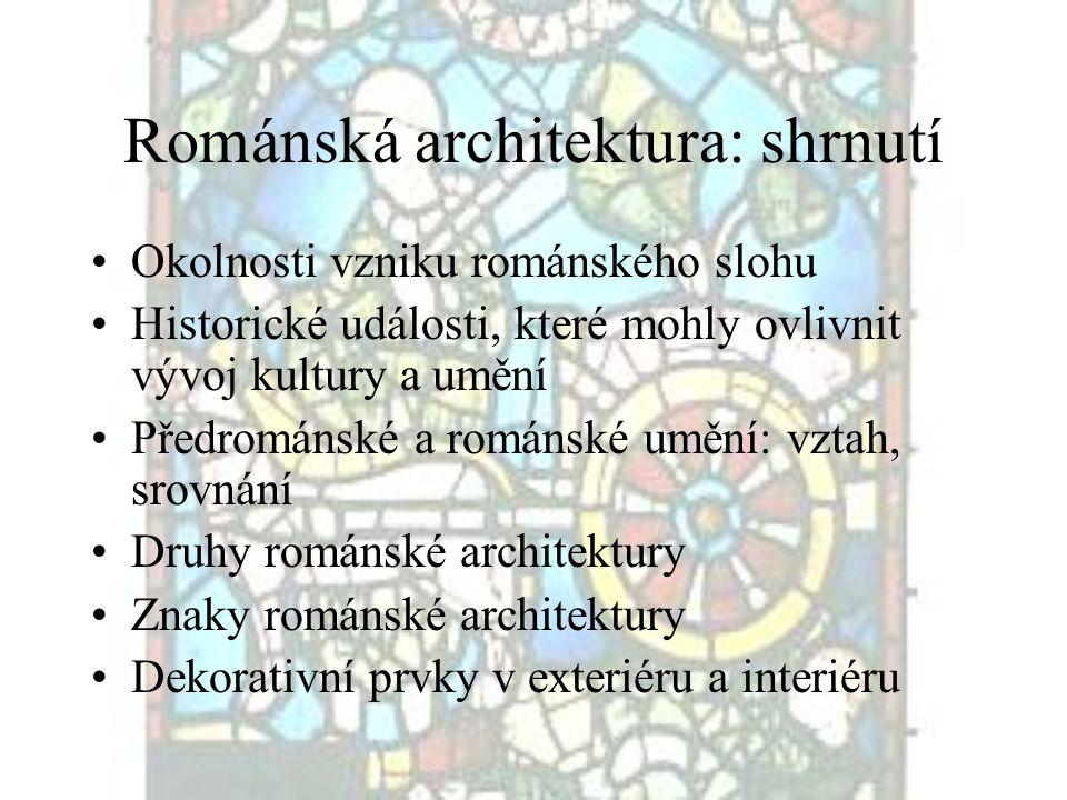 Románská architektura: shrnutí