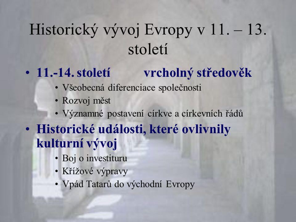Historický vývoj Evropy v 11. – 13. století