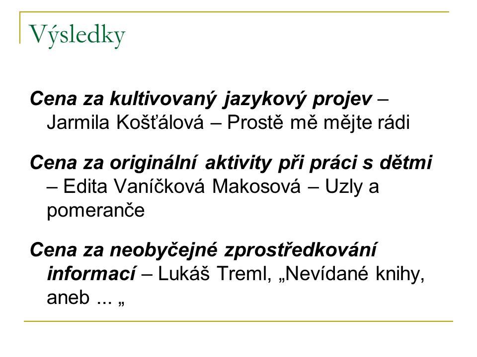 Výsledky Cena za kultivovaný jazykový projev – Jarmila Košťálová – Prostě mě mějte rádi.