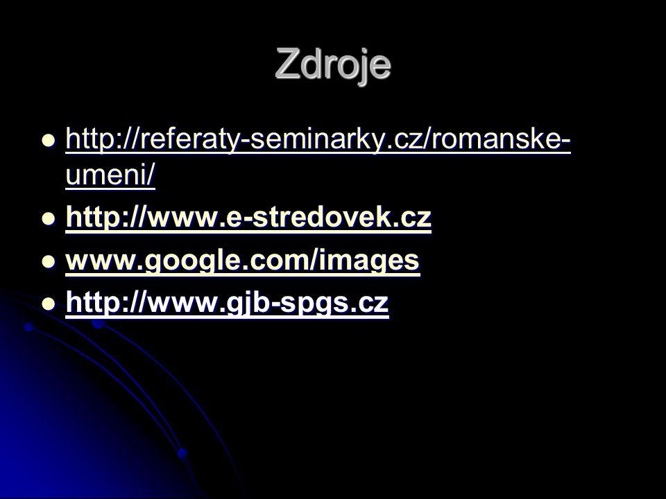 Zdroje http://referaty-seminarky.cz/romanske-umeni/