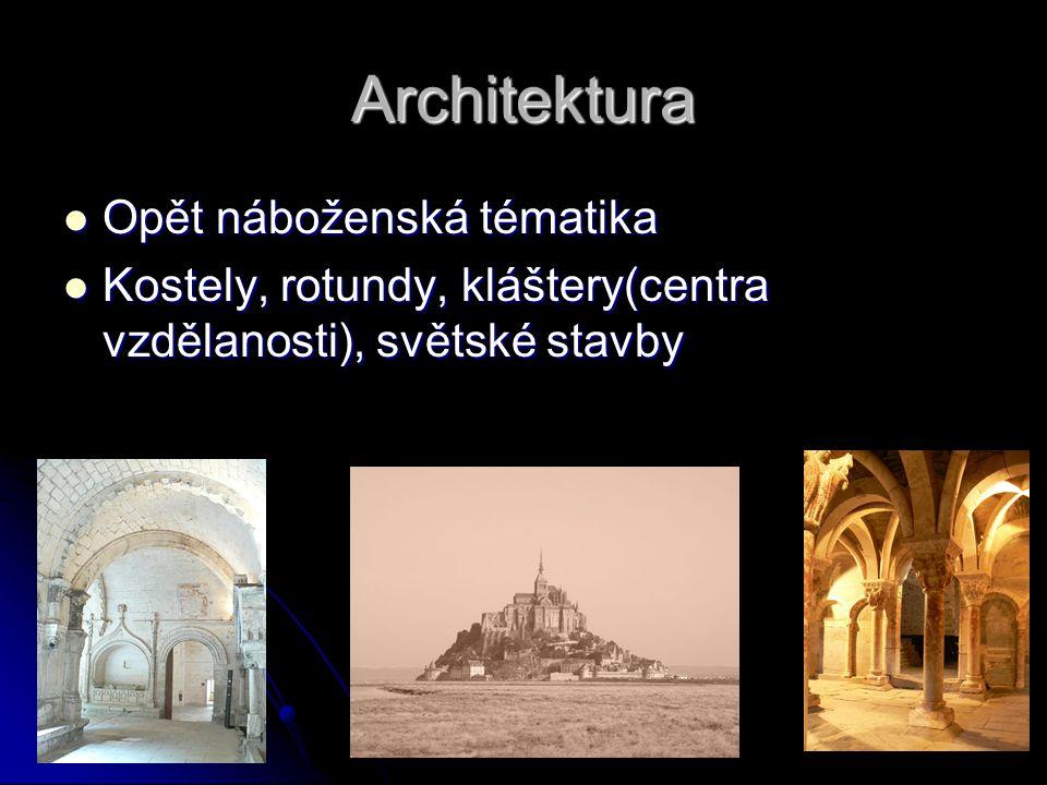 Architektura Opět náboženská tématika
