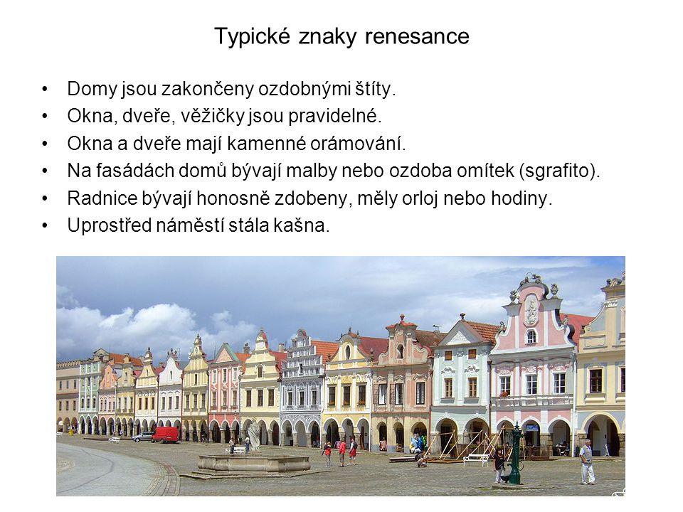 Typické znaky renesance