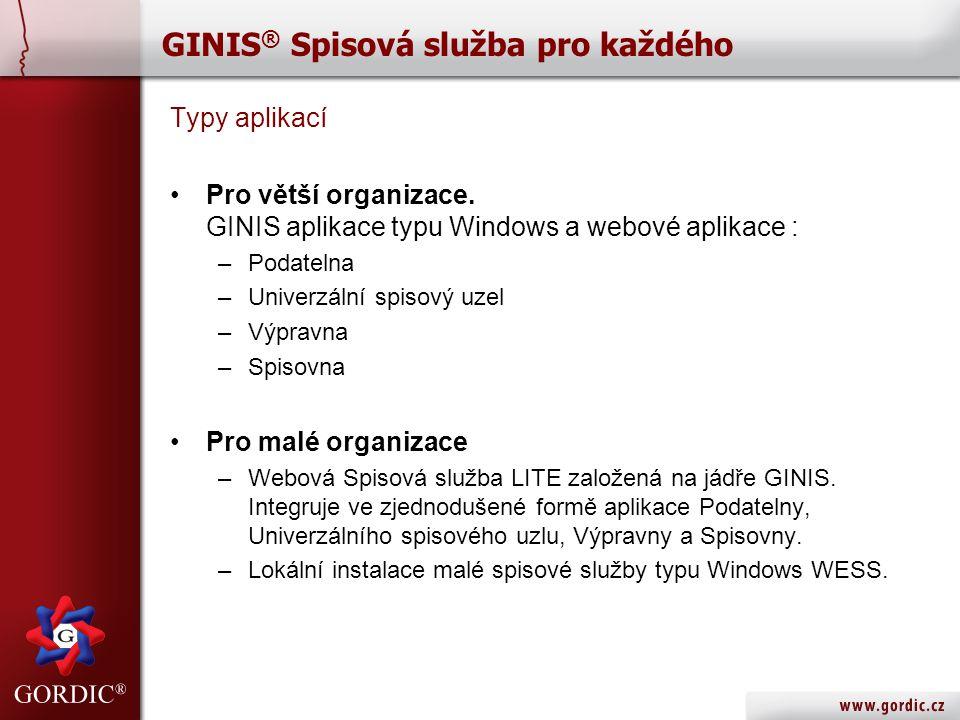 GINIS® Spisová služba pro každého
