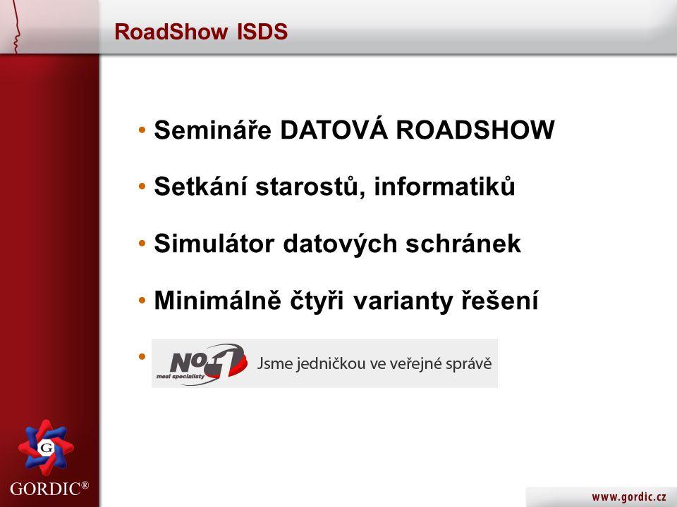 Semináře DATOVÁ ROADSHOW Setkání starostů, informatiků
