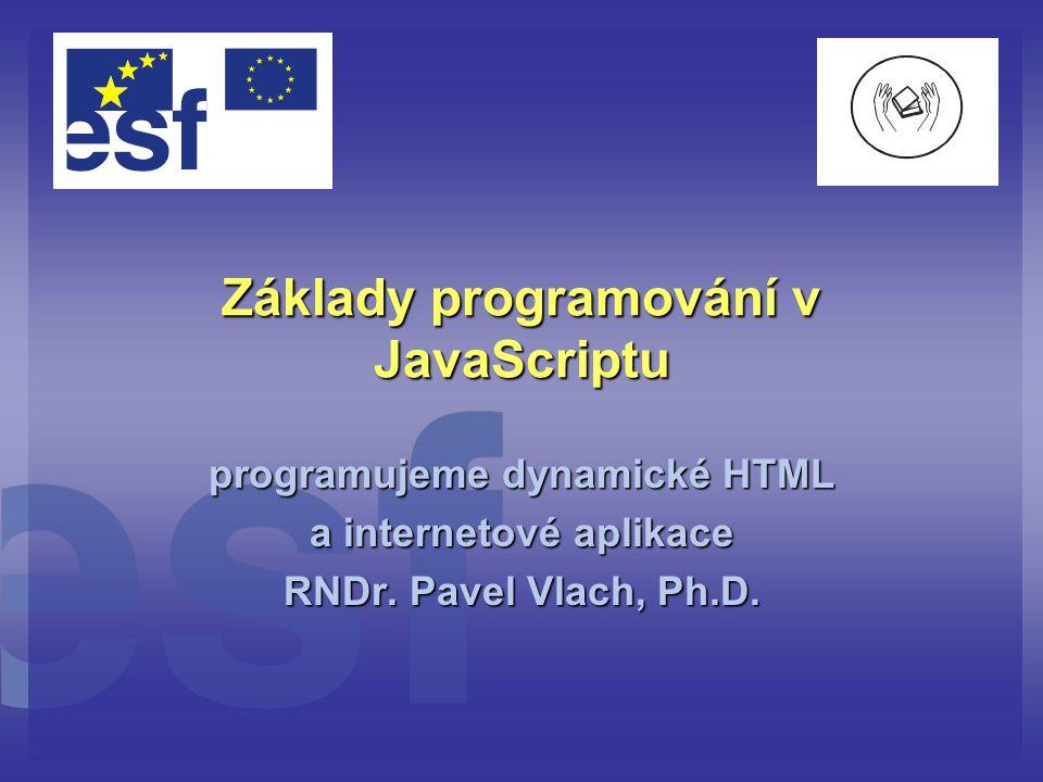 Základy programování v JavaScriptu