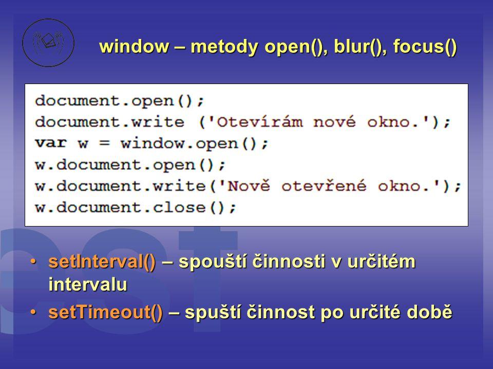 window – metody open(), blur(), focus()