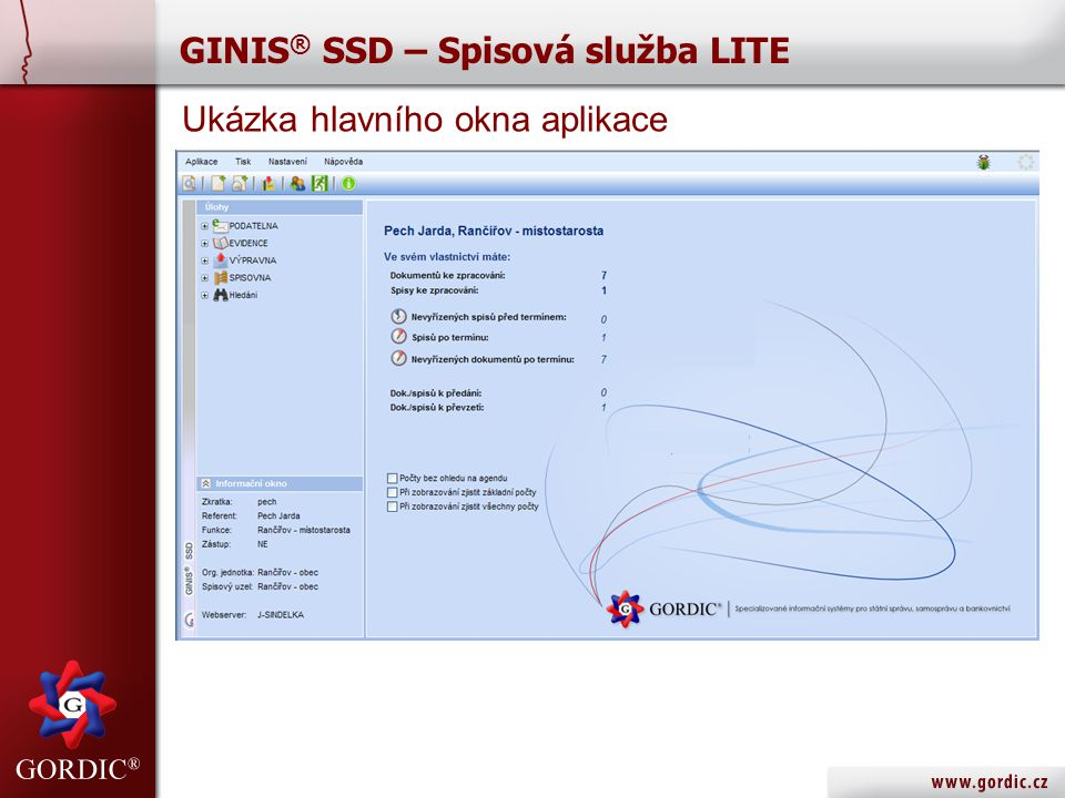 GINIS® SSD – Spisová služba LITE
