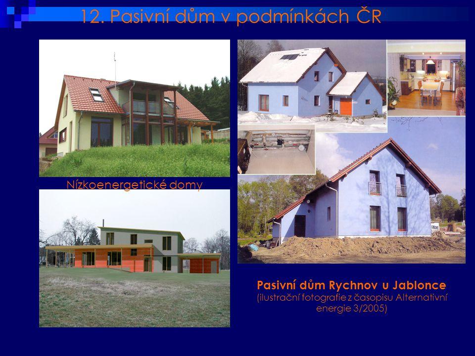 12. Pasivní dům v podmínkách ČR
