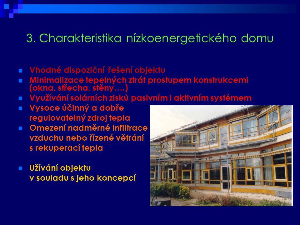 3. Charakteristika nízkoenergetického domu