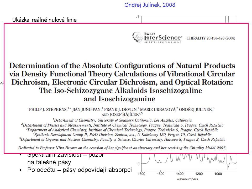Ukázka reálné nulové linie (-)-isoschizogamine v CDCl3
