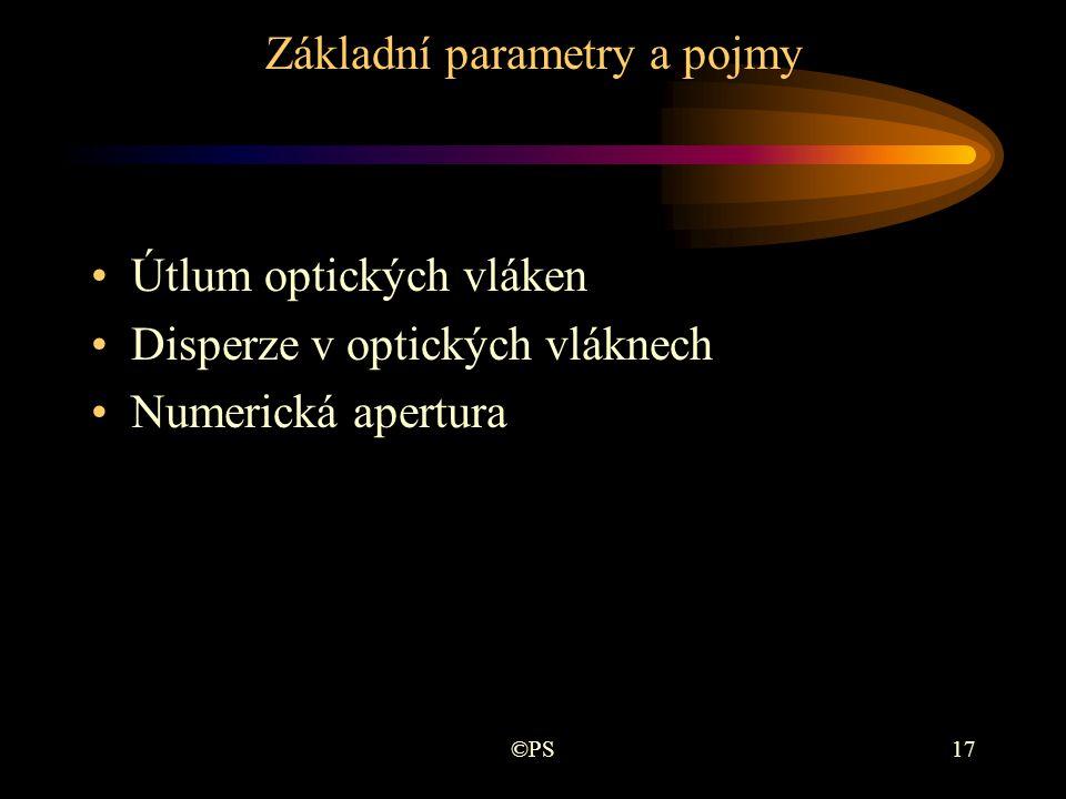 Základní parametry a pojmy