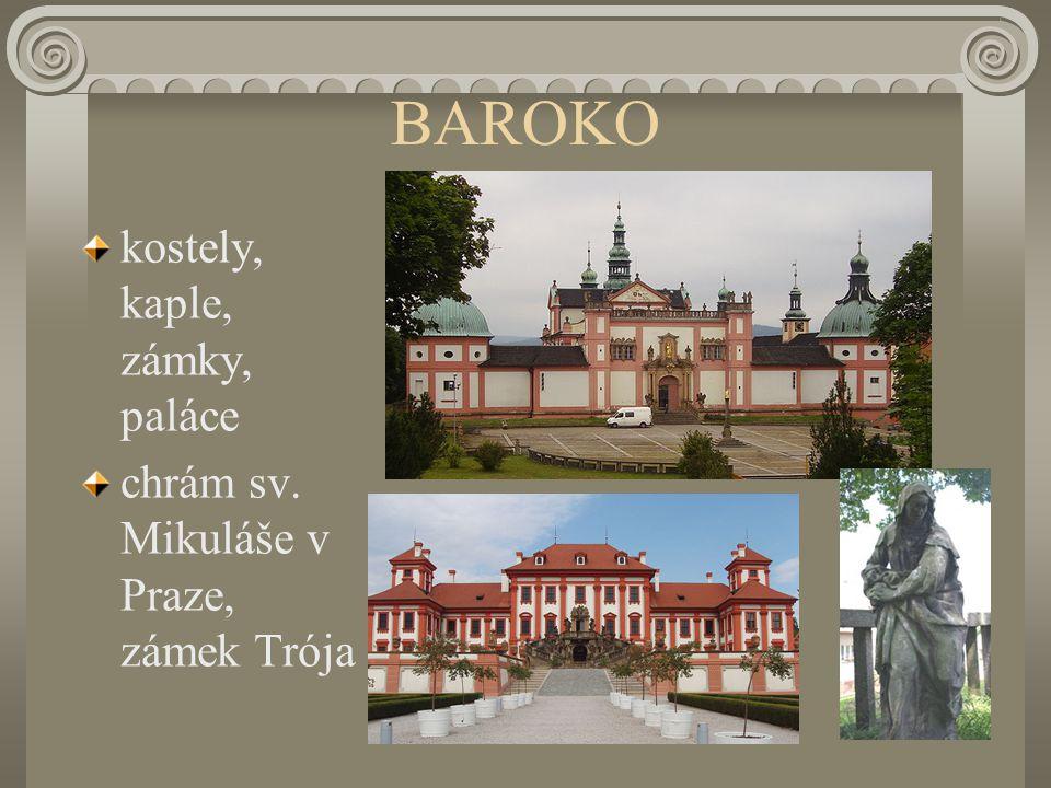 BAROKO kostely, kaple, zámky, paláce