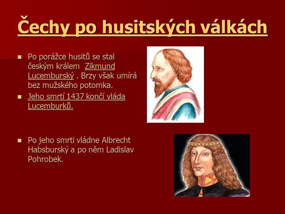 Čechy po husitských válkách