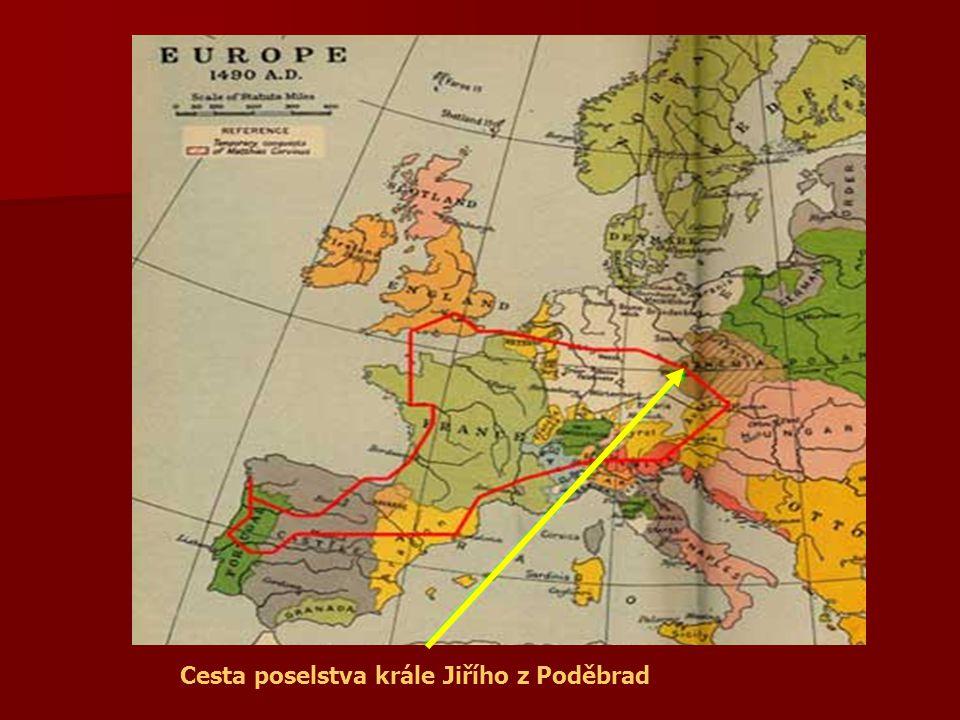 Cesta poselstva krále Jiřího z Poděbrad
