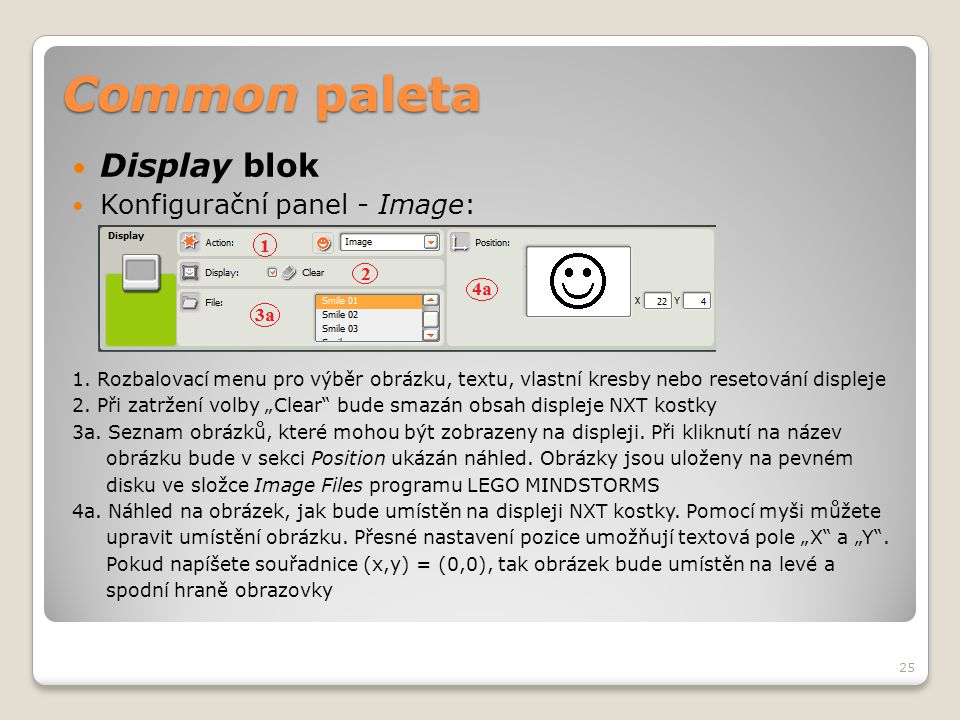 Common paleta Display blok Konfigurační panel - Image:
