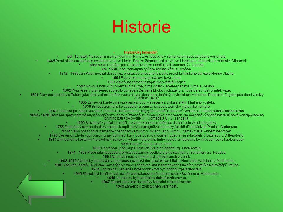 Historie Historický kalendář: