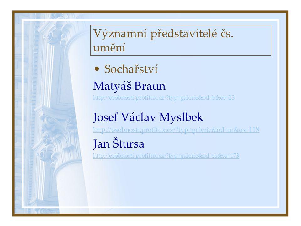 Významní představitelé čs. umění