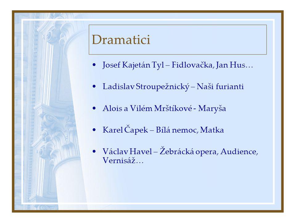 Dramatici Josef Kajetán Tyl – Fidlovačka, Jan Hus…