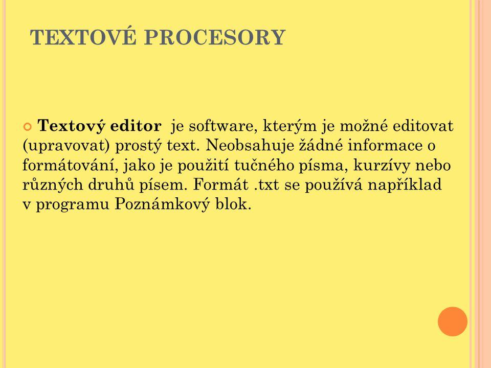 Textové procesory