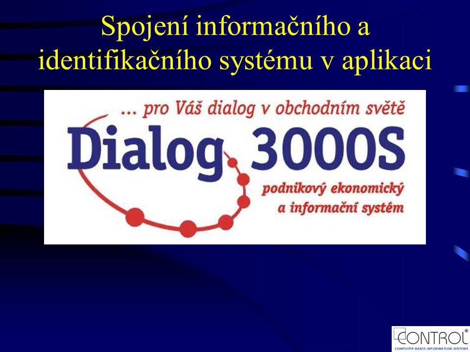 Spojení informačního a identifikačního systému v aplikaci