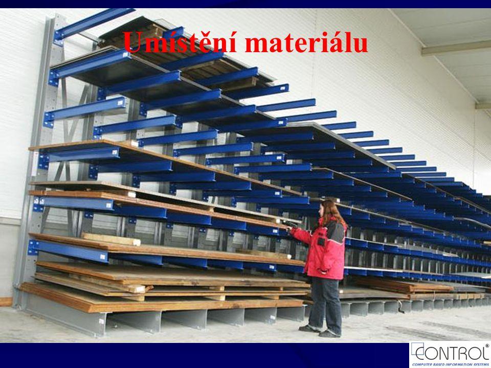 Umístění materiálu