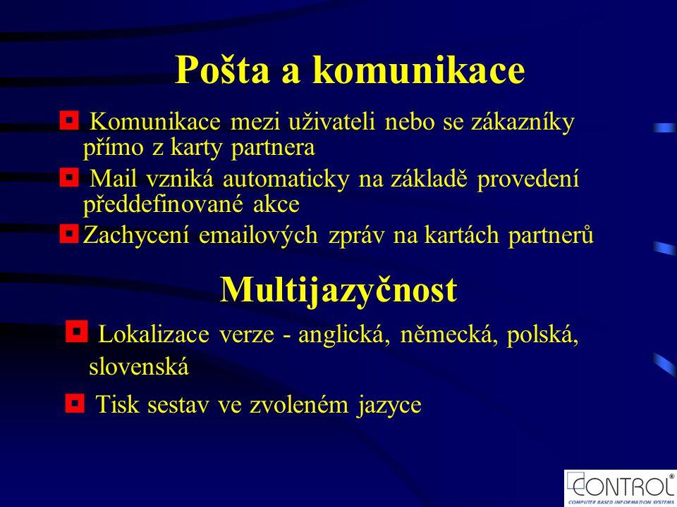 Pošta a komunikace Multijazyčnost