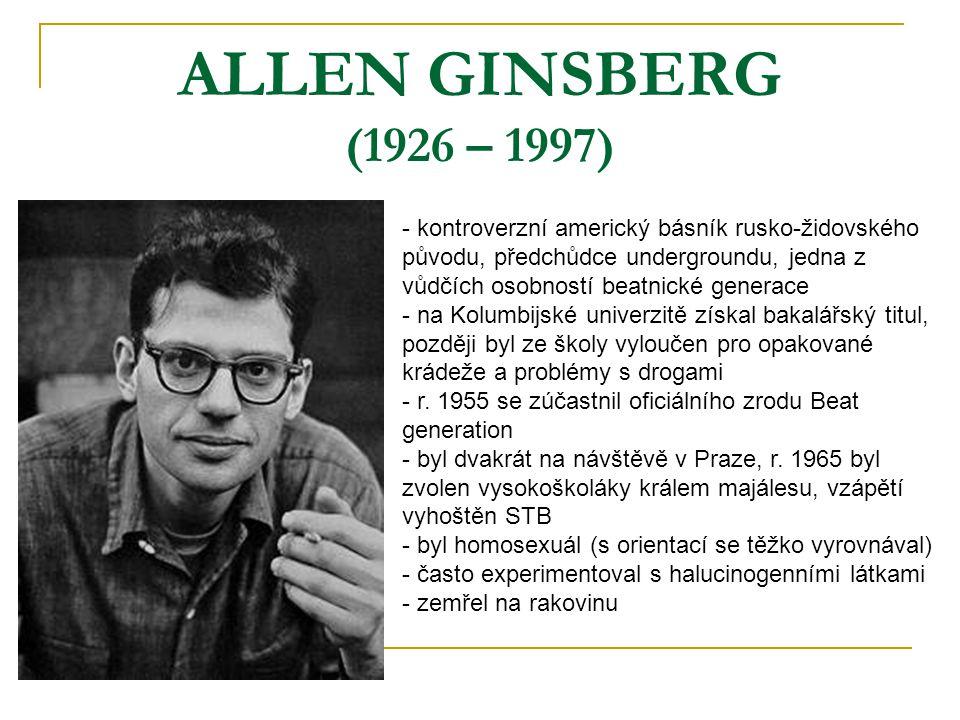 ALLEN GINSBERG (1926 – 1997)