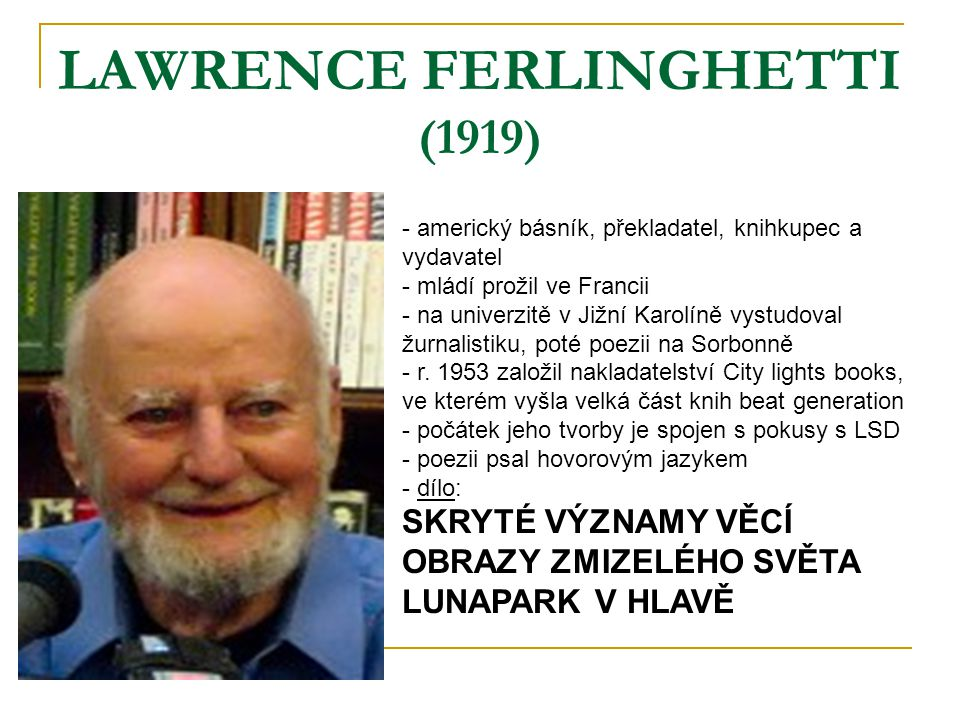 LAWRENCE FERLINGHETTI (1919)