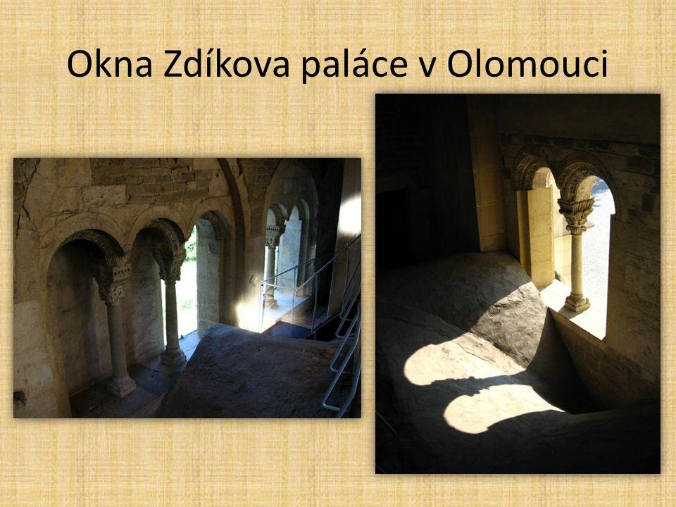 Okna Zdíkova paláce v Olomouci