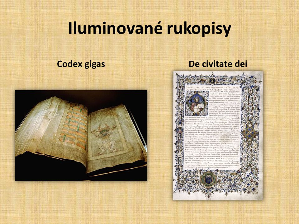 Iluminované rukopisy Codex gigas De civitate dei