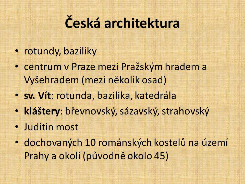 Česká architektura rotundy, baziliky