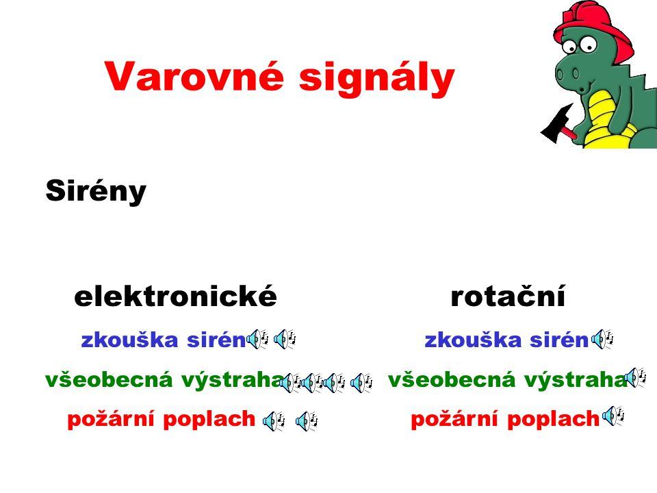Varovné signály Sirény elektronické rotační
