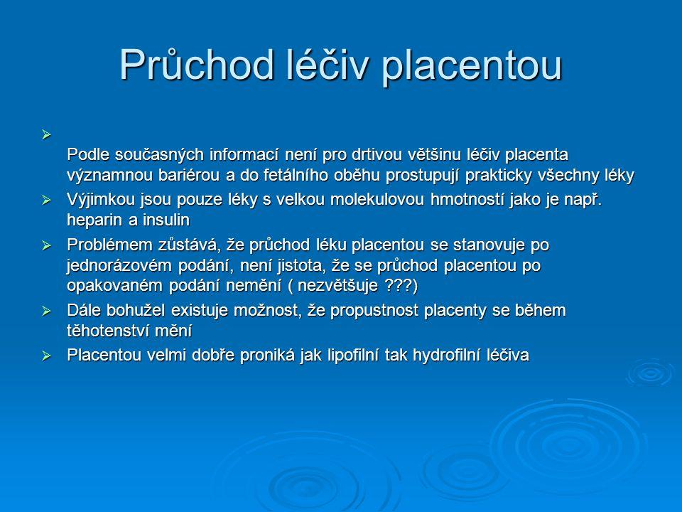 Průchod léčiv placentou