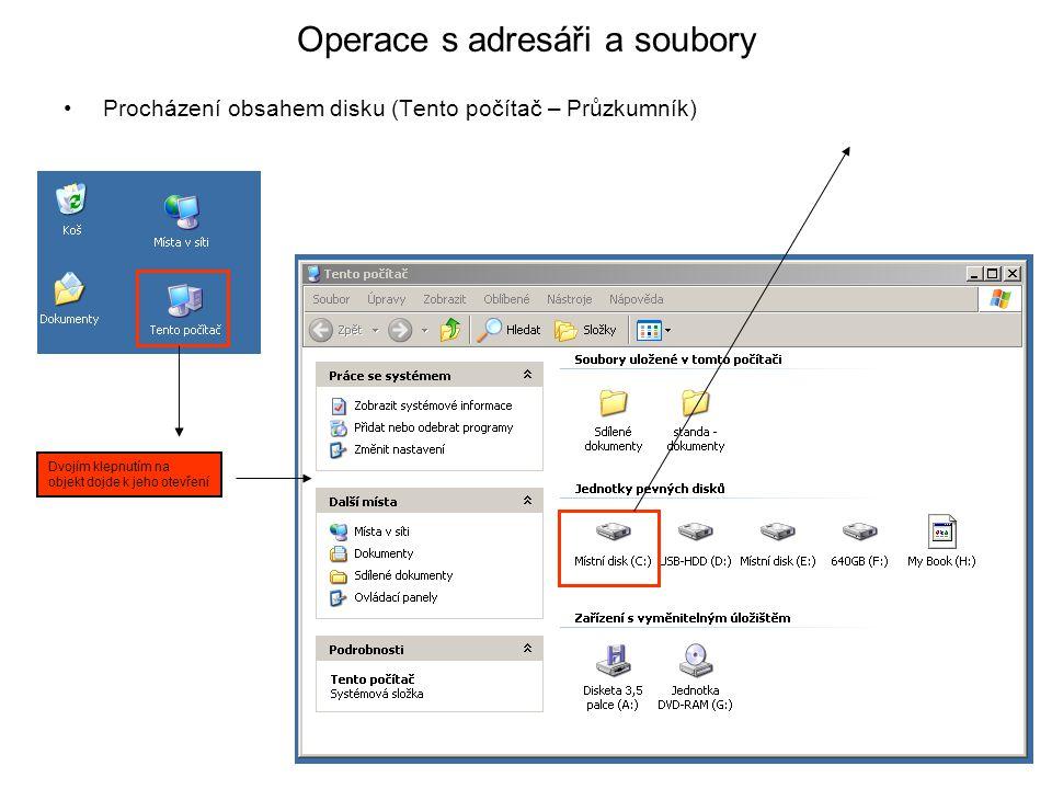 Operace s adresáři a soubory