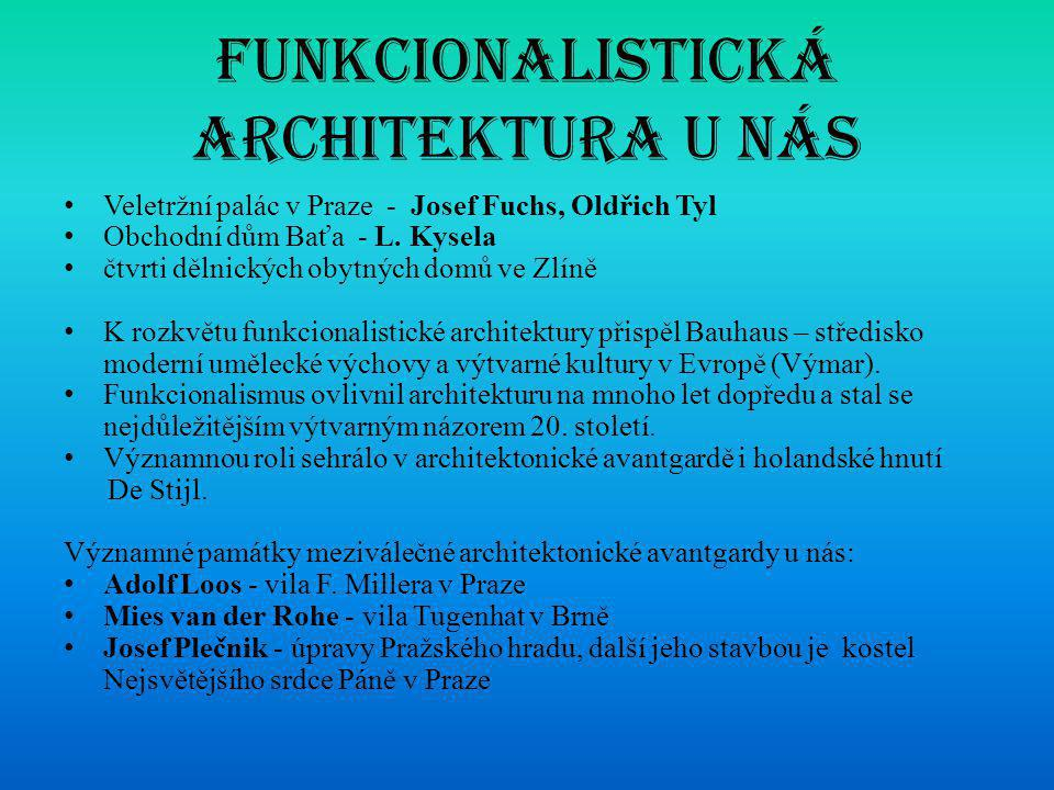 Funkcionalistická architektura u nás