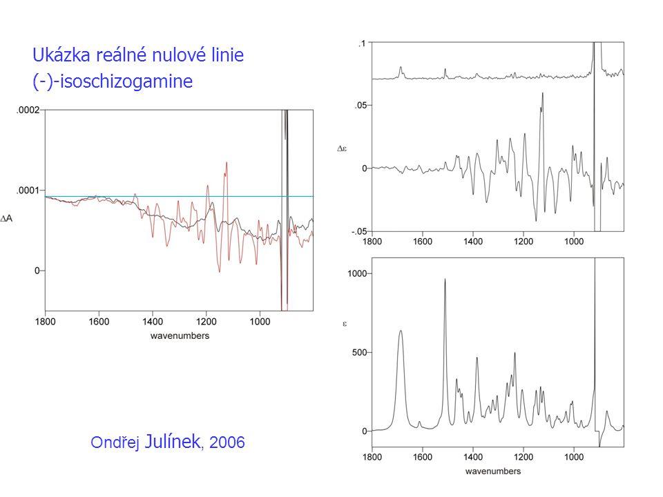 Ukázka reálné nulové linie (-)-isoschizogamine
